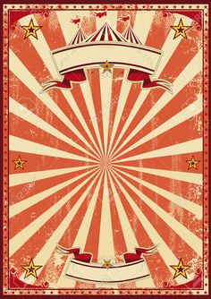Vintage Carnival Border A red vintage circus