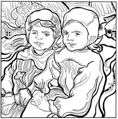 30 coloring pages of Vincent van Gogh on Kids-n-Fun.co.uk. On Kids-n-Fun you will always find the best coloring pages first!