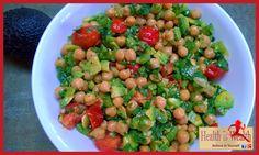 Strong and Beyond: Chickpea, Avocado and Tomato Salad