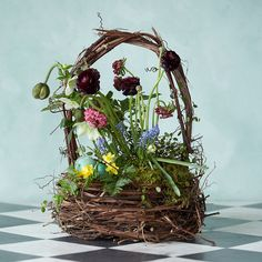 """Sculpted from natural grapevine, this hand-crafted basket makes a beautifully wild vessel for Easter treasures.- Grapevine, floral twine- Indoor use only- Keep out of direct sunlight- Slight variance may occur- Handmade in the USASmall: 14""""H, 9.5"""" exterior diameter, 6.25"""" interior diameterLarge: 18""""H, 12.25"""" exterior diameter, 8.5"""" interior diameter"""