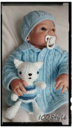 Newborn Baby Set,Baby Hat and Cardigan, Blue Set Crochet,Baby Hat, Baby Knitting Set,Baby Photo Prop by ICOStyle on Etsy