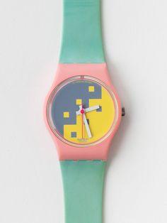 Vintage Swatch Blue Cassata Ladies' Watch   Shop American Apparel