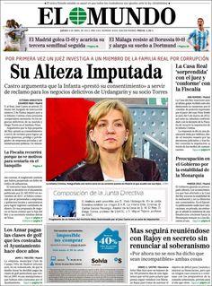 Los Titulares y Portadas de Noticias Destacadas Españolas del 4 de Abril de 2013 del Diario El Mundo ¿Que le parecio esta Portada de este Diario Español?