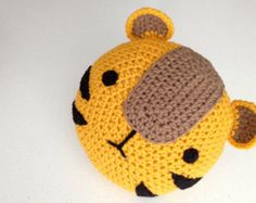 Crochet Tiger Pillow