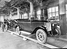 The first Volvo car that left the assembly line on April 14, 1927