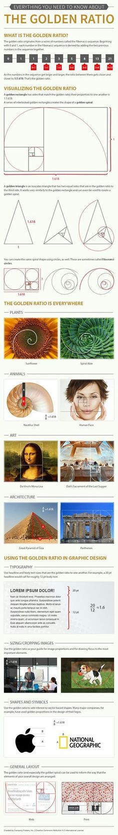 Psychology infographic and charts The golden ratio for design…. Infographic Description The golden ratio for design. - #Psychologyinfographics