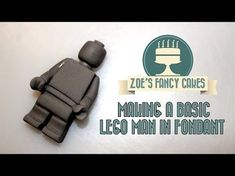 How to make a basic lego man in fondant How To Tutorial Zoes Fancy Cakes Mais Fondant Man, Fondant Toppers, Fondant Cupcakes, Fondant Tips, Bolo Ninjago, Bolo Lego, Ninjago Party, Lego Batman Cakes, Superhero Cake
