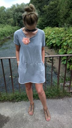 I love grey dresess with pocket :)) I buy this dress in Second Hand