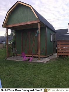10x16 Gambrel Storage Shed This Is A