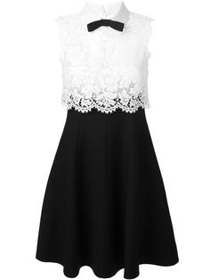 Shop Valentino lace panel dress in O' from the world's best independent boutiques at farfetch.com. Shop 300 boutiques at one address.