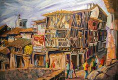 LASENJA (LA ALBERCA). Oleo sobre lienzo. 100 x 73 x 3,5 cm.