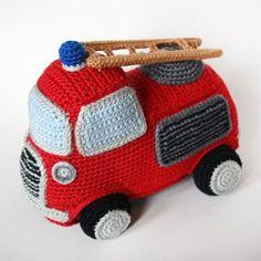 Coche de bomberos amigurumi crochet patrón de Christel Krukkert