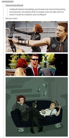 also posting to my Hawkeye and Black Widow board because this is literally too perfect. <3