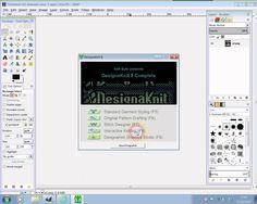 Machine knitted graphics using GIMP and DAK