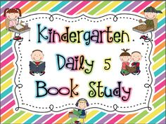 Mrs. Miner's Kindergarten Monkey Business: Daily 5 Book Study Playing Catch Up With Freebies!