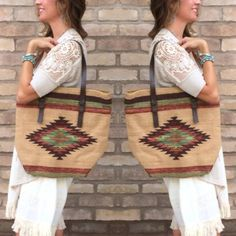 Our new #woven #handbags have us so ready for #fall! Come check out our new arrivals! #fallfashion #aztec #style #sothread #atx — at Southern Thread @ The Domain