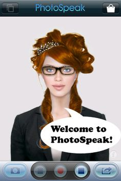 PhotoSpeak™ can transform any portrait photo into a moving 3D avatar that repeats your every word.