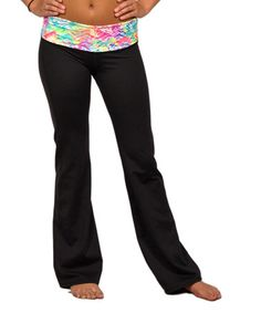 This Pink & White Chevron Yoga Pants by Spunkwear is perfect! #zulilyfinds