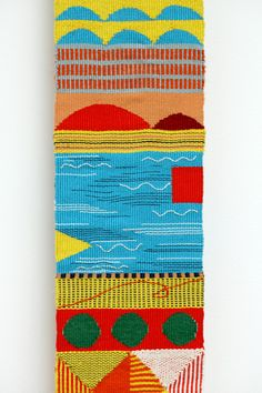 Colorful weaving design by artist Hannah Waldron.