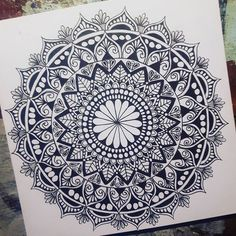 Mandala by @tamm.art Like it! . . . #mandala #mandalaart #zenmandala #zentangle #mandaladesign #mandalatattoo #zen #art #zentangleart #nice #picture #cute #girl #draw #drawing #blackandwhite #follow#zenart #mandalapassion #love #doodle #doodling #doodleart #doodlelove Mandala Doodle, Tangle Doodle, Mandala Drawing, Mandala Tattoo, Mandala Art, Doodle Art, Pinterest Diy Crafts, Zentangle Patterns, Zentangles