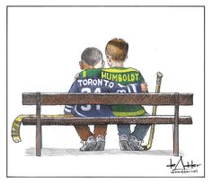 Halifax cartoonist Michael de Adder says he was simply trying to find a small bit of positivity with an image that has garnered national attention for its depiction of recent tragedies in Toronto and Humboldt, Sask. I Am Canadian, Canadian History, Canadian Humour, Hockey Mom, Ice Hockey, Hockey Rules, Blackhawks Hockey, Hockey Stuff, Toronto Photography
