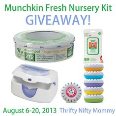 Munchkin Fresh Nursery Kit {Giveaway}  Enter to win this great kit full of all the essentials for your baby