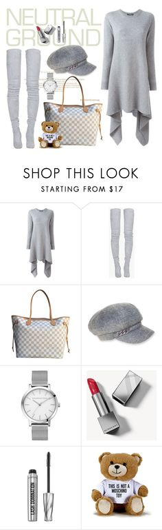 """""""Untitled #4056"""" by julinka111 ❤ liked on Polyvore featuring Alexander McQueen, Balmain, Louis Vuitton, Nine West, Burberry, Bare Escentuals and Moschino"""