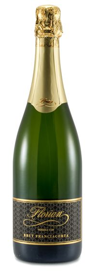 Brut Florian Franciacorta DOCG | A dry d.o.c.g. brut crafted in the Franciacorta region using the classic champenoise method. The colour is yellow with refrelections of green. The perlage is fine and persistent. The bouquet is distinctive and compact, followed by a dry taste and finish ubundant in elegance and full flavours. 750 - 26fl.oz