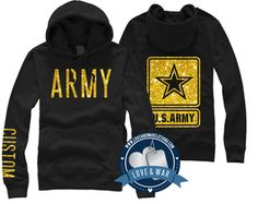 "STRONG on the arm where it says ""custom"" Army Sister, Army Girlfriend, Military Love, Military Female, Army Clothes, Army Day, Army Shirts, Navy Wife, Army Life"