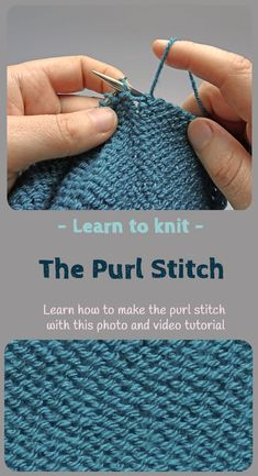 Ever fancied learning knitting. Its simple! try this easy to follow step by step tutorial to teach you how to knit the purl stitch. This post includes a full photo tutorial but also a video showing you exactly what to do.