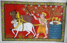 Cheriyal Scroll Paintings by Vaikuntam nakash