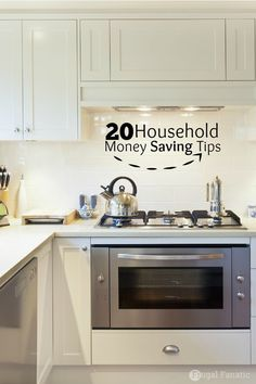 Here are 20 household money saving tips to help you find small ways to save money around your house every day. Money saving tips, saving money, #SaveMoney