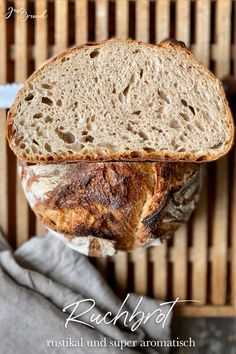 Ruchmehlbrot mein Brot zum World Bread Day Fermented Bread, Pampered Chef, Bread Crumbs, Bread Baking, Snacks, Low Carb, Baguette, Buns, Super
