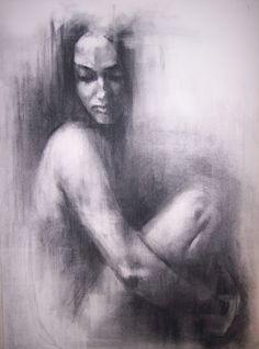 "Saatchi Online Artist: Patrick Palmer; Charcoal, 2010, Drawing ""Hush 2"""