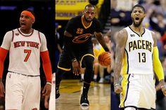 #NBA: Carmelo Anthony y Paul George posibles compañeros de LeBron James
