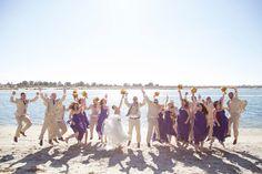 Jump! #missionbaywedding  | Photo by Wild Oak Weddings