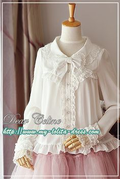 Linda's Recommendation: Sweet Babydoll Collar Long Sleeves Lolita Blouse >>> http://www.my-lolita-dress.com/sweet-babydoll-collar-long-sleeves-lolita-shirt-dc-27 [Limited Quantity]