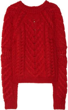ShopStyle: Isabel Marant Cable-knit wool sweater