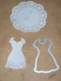 SU dress die carefully placed on a 4 inch doily gives you a nice sleeve and hem border -- or use my We R Memory or Martha Stewart round border punches after the die cutting Doilies Crafts, Paper Doilies, Card Making Tips, Making Ideas, Paper Art, Paper Crafts, Big Shot, Dress Card, Die Cut Cards