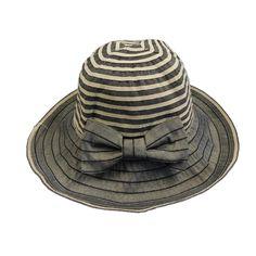 Striped Crown Ribbon Hat