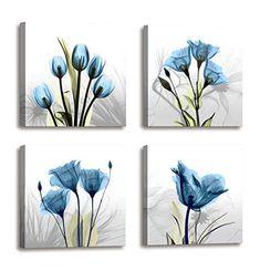 Small Canvas Paintings, Flower Painting Canvas, Flower Canvas, Art Paintings, Large Canvas, Painting Art, Modern Framed Art, Framed Wall Art, Canvas Wall Art