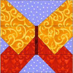 Patchwork en Casa - Anna: Bloque de la Semana: Mariposa en Paper Piecing