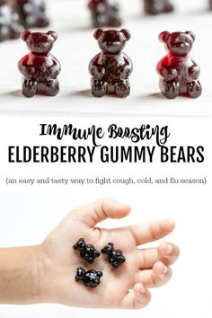 A super easy and tasty way to boost your immune. Give your immune system a little boost with these easy to make and super tasty immune boosting elderberry gummy bears. Healthy Recipes, Healthy Food Choices, Healthy Eating Tips, Healthy Foods To Eat, Real Food Recipes, Healthy Snacks, Healthy Breakfasts, Protein Snacks, Stay Healthy