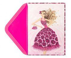 Bella Pilar Pink Animal Print Card | Breast Cancer Research Foundation | BCRF