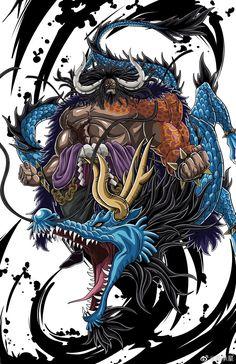 Kaidou One Piece, One Piece Drawing, Zoro One Piece, One Piece Comic, One Piece World, One Piece Images, One Piece Pictures, One Piece Fanart, Manga Anime One Piece