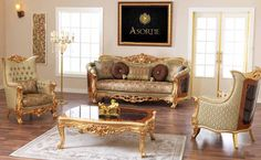 Luxury classic sofa sets and avant-garde sofa sets and classic sofa models. Turkish Furniture, Luxury Living Room, Royal Furniture, Sofa, Classic Sofa, Sofa Set Designs, Sofa Set, Luxury Seating, Living Room Designs