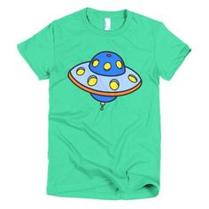 Blue Spaceship - Women's Short Sleeve T-Shirt