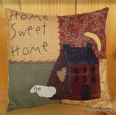 Sew Graceful Quilting: Shop | Category: Kits | Product: Buttermilk Basin Home Sweet Home Pillow Kit