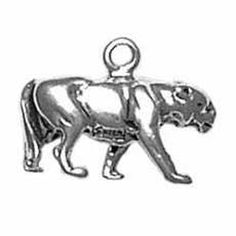 """Sterling Silver Womens 30"""" 1mm Box Chain 3D Full Body Walking Panther Jaguar Cougar Leopard Puma Pendant Necklace. 925 Sterling Silver Jewelry. Made In The USA!."""