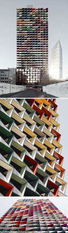 A'Beckett Tower | Elenberg Fraser #arch2o #architecture #tower #colors #colorful
